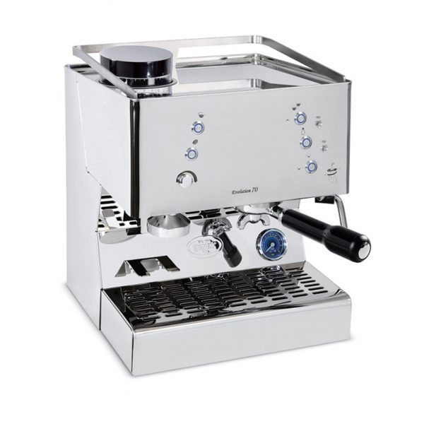 Quick Mill 03145 Evolution 70 Pulsanti Dual Thermoblock Espressomaschine mit integrierter Kaffeemühle