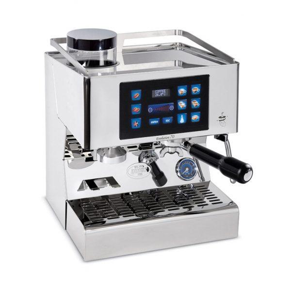 Quick Mill 03235 Evolution 70 Tastiera Capactiva Thermoblock Espressomaschine mit integrierter Kaffeemühle