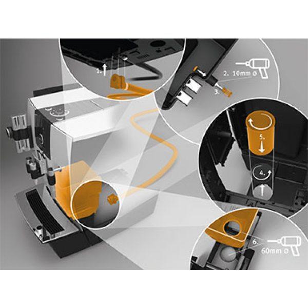 Kaffeesatzabwurf und Restwasserablauf Set für XJ-Professional-Linie