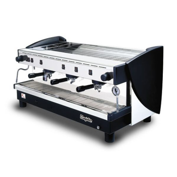 MAGISTER Kappa MS100-HG professionelle Halbautomatik Espressomaschine mit 3 erhöhten Brühgruppen