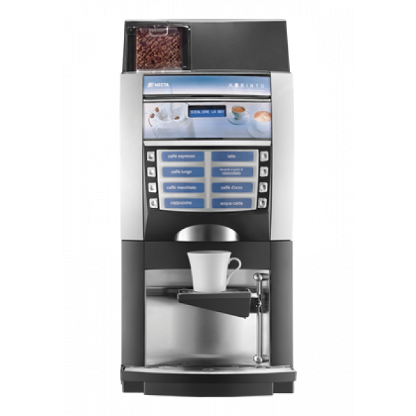 """NECTA Korinto Espresso HoReCa Festwasser Kaffeevollautomat mit 2 Produktbehältern für Milchpulver """"Topping"""""""