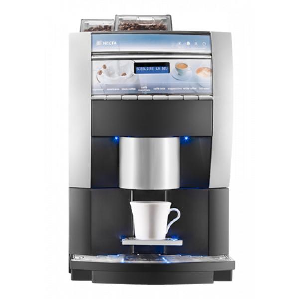 """NECTA Koro Espresso HoReCa Festwasser Kaffeevollautomat für Milchpulver """"Topping"""""""