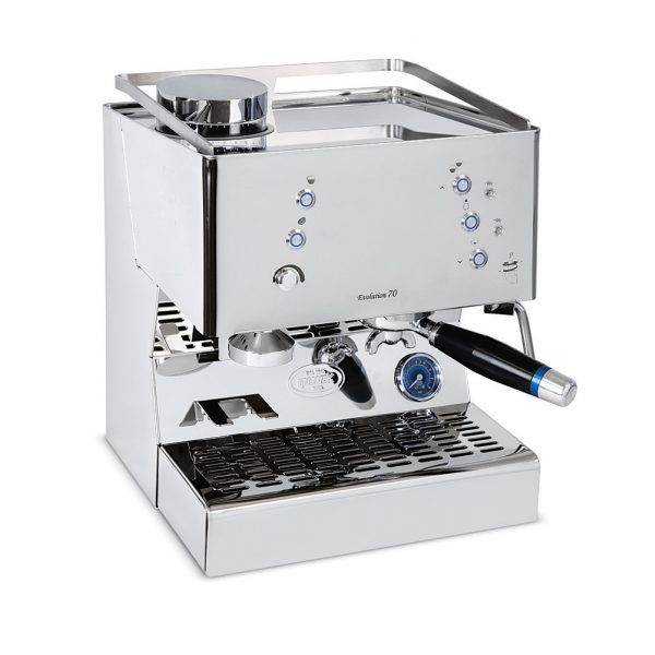 Quick Mill 03135 Evolution 70 Pulsanti Thermoblock Espressomaschine mit integrierter Kaffeemühle
